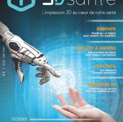 couverture-deuxieme-numéro-magazine-3D-Print-Sante