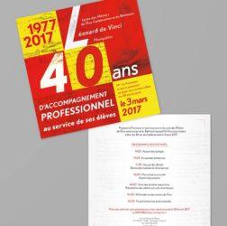 carton-invitation-communication-evenementielle-40-ans-lycee-léonard-de-vinci