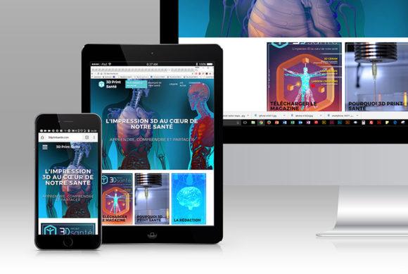 Iconographie site internet / 3d Print Santé