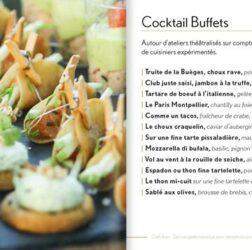 Présentation des cocktail buffets du Chef Jean Philippot