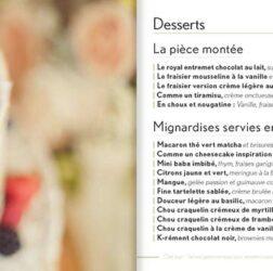 Présentation des desserts du Chef Jean Philippot