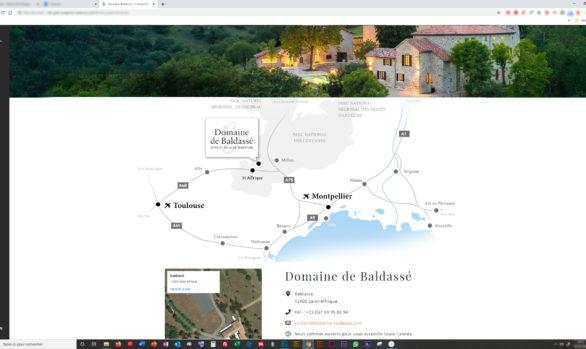 Une carte pour hiérarchiser l'information d'accessibilité- Domaine de Baldassé